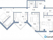 4-комнатная квартира, 99 м², 4/25 эт. Андреевка