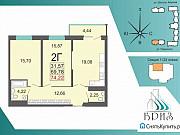 2-комнатная квартира, 74 м², 5/24 эт. Екатеринбург