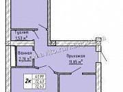 2-комнатная квартира, 72 м², 7/9 эт. Нальчик