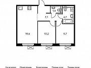 2-комнатная квартира, 53 м², 4/25 эт. Москва