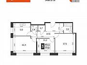3-комнатная квартира, 77 м², 19/22 эт. Москва
