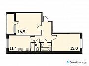 2-комнатная квартира, 57.8 м², 12/19 эт. Одинцово