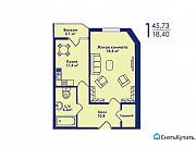 1-комнатная квартира, 45.7 м², 3/17 эт. Котельники