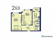 2-комнатная квартира, 67.4 м², 14/17 эт. Котельники