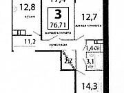 3-комнатная квартира, 77 м², 3/18 эт. Зеленоград