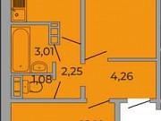 2-комнатная квартира, 52.9 м², 4/10 эт. Курган