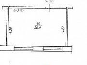 Комната 26.4 м² в 1-ком. кв., 3/5 эт. Чебоксары