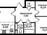 3-комнатная квартира, 62.7 м², 12/12 эт. Ватутинки