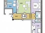 3-комнатная квартира, 89.2 м², 9/9 эт. Улан-Удэ