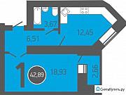 1-комнатная квартира, 42.9 м², 8/17 эт. Оренбург