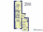 2-комнатная квартира, 69 м², 4/17 эт. Котельники