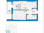 1-комнатная квартира, 35.6 м², 4/16 эт. Димитровград