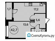 1-комнатная квартира, 42.7 м², 2/15 эт. Коммунарка