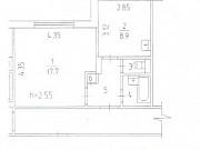 1-комнатная квартира, 34.5 м², 1/9 эт. Пермь
