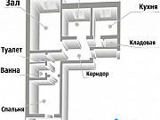 3-комнатная квартира, 63.1 м², 10/10 эт. Курган