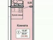 Студия, 33 м², 7/17 эт. Киров