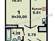 1-комнатная квартира, 40 м², 7/23 эт. Ульяновск