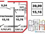 1-комнатная квартира, 40 м², 11/17 эт. Оренбург