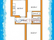 2-комнатная квартира, 54.3 м², 4/7 эт. Тула