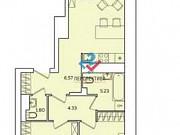 2-комнатная квартира, 73.1 м², 6/17 эт. Пенза