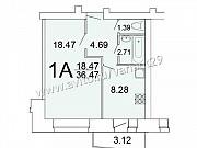 1-комнатная квартира, 36.5 м², 2/9 эт. Северодвинск