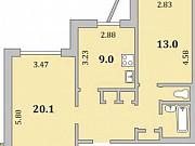 2-комнатная квартира, 58 м², 9/10 эт. Мурманск