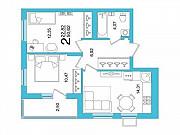 2-комнатная квартира, 50.6 м², 6/26 эт. Уфа