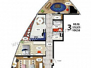 3-комнатная квартира, 104 м², 13/19 эт. Воронеж