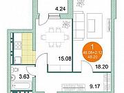 2-комнатная квартира, 48.2 м², 7/15 эт. Уфа
