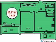 2-комнатная квартира, 69 м², 4/9 эт. Нефтекамск