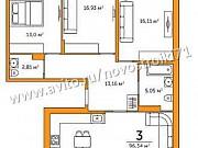 3-комнатная квартира, 96.3 м², 4/9 эт. Тула