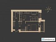 2-комнатная квартира, 43.6 м², 6/17 эт. Барнаул