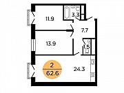 2-комнатная квартира, 63.9 м², 15/29 эт. Москва