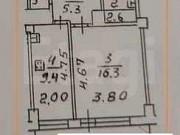 1-комнатная квартира, 38.8 м², 5/16 эт. Подольск