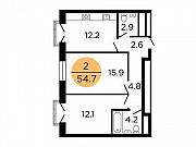 2-комнатная квартира, 53.7 м², 14/29 эт. Москва