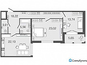 2-комнатная квартира, 85.8 м², 4/8 эт. Санкт-Петербург