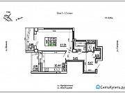 1-комнатная квартира, 46.7 м², 5/17 эт. Самара