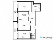 3-комнатная квартира, 72 м², 12/12 эт. Санкт-Петербург