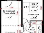 2-комнатная квартира, 41 м², 7/17 эт. Барнаул