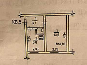 1-комнатная квартира, 26 м², 1/2 эт. Хабаровск