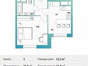 1-комнатная квартира, 36.5 м², 12/30 эт. Москва