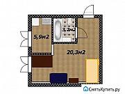 1-комнатная квартира, 28.8 м², 1/4 эт. Уфа