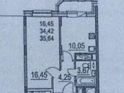 1-комнатная квартира, 36,8 м², 17/18 эт. Мытищи