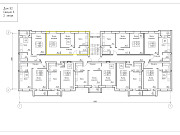 2-комнатная квартира, 45.6 м², 1/3 эт. Калуга