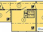 Офисное помещение, 35.5 кв.м. Пионерский