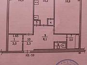 2-комнатная квартира, 63 м², 5/5 эт. Удачный