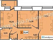 1-комнатная квартира, 48.5 м², 5/5 эт. Северодвинск