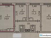 Комната 16 м² в 4-ком. кв., 6/9 эт. Братск