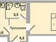 1-комнатная квартира, 45.2 м², 9/9 эт. Ростов-на-Дону