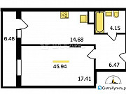 1-комнатная квартира, 45.9 м², 2/18 эт. Владимир